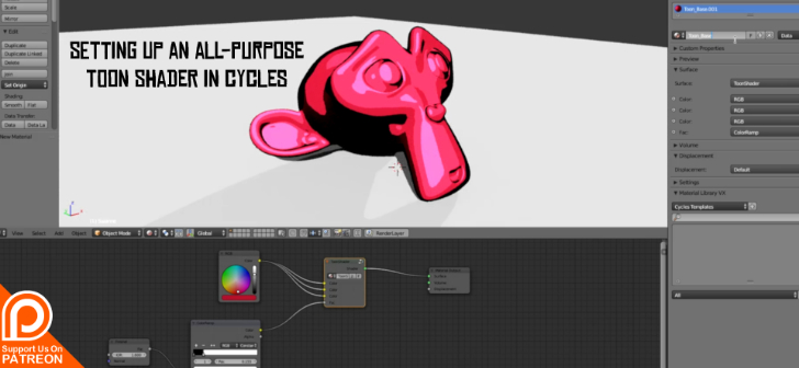 Setting up an all-purpose toon shader in Cycles - BlenderNation