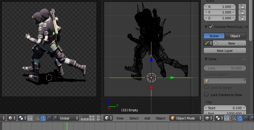Technique to create pre-rendered sprites in Blender and how