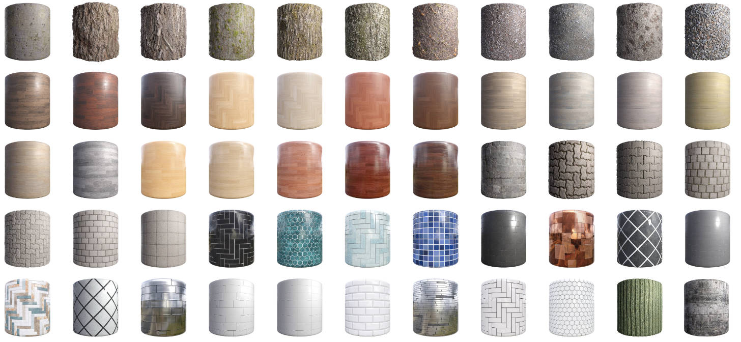 250 Free CC0 High-quality PBR Textures from cgbookcase com