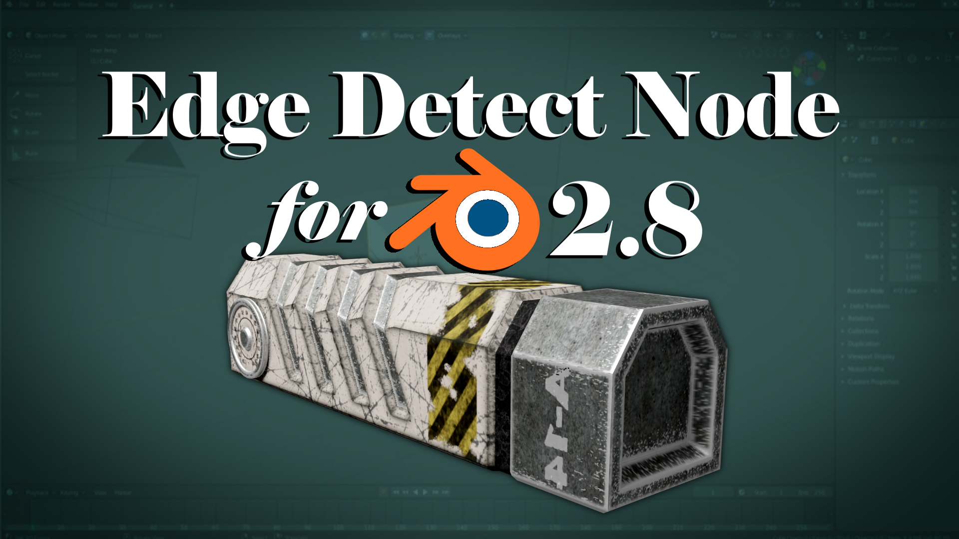 Edge Detect Node for Blender 2 8 - BlenderNation