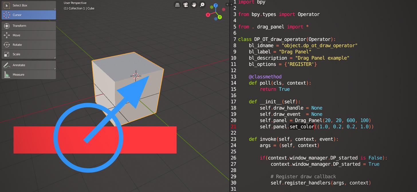 Blender 2 8 GPU module API : Draggable UI widgets