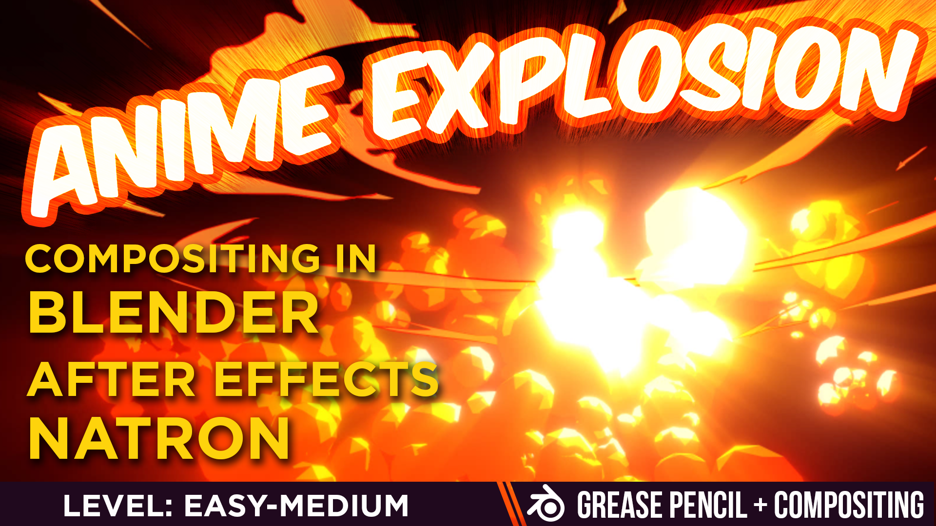 Anime explosion in blender using greasepencil
