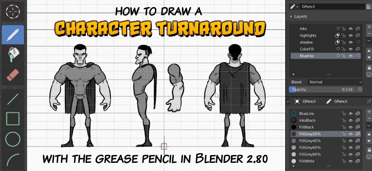 Comment on Character Turnaround with Grease Pencil by Wesley