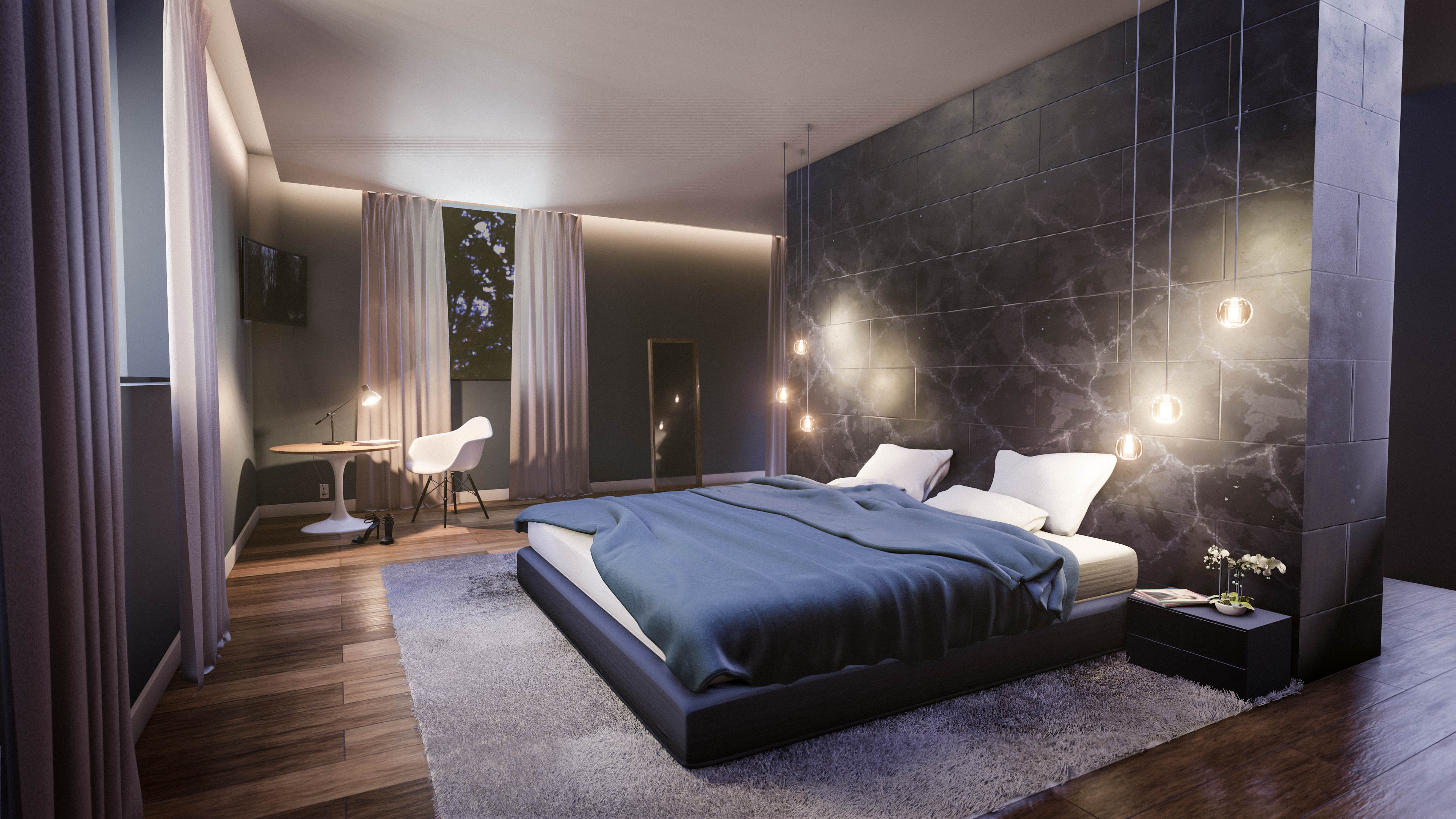 Modern Bedrooms Ideas: Create A Modern Bedroom Interior In Blender In 35 Minutes
