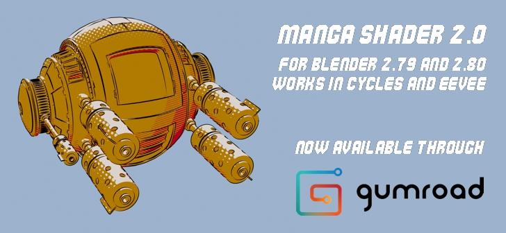 Manga Shader 2 0 now available through Gumroad - BlenderNation