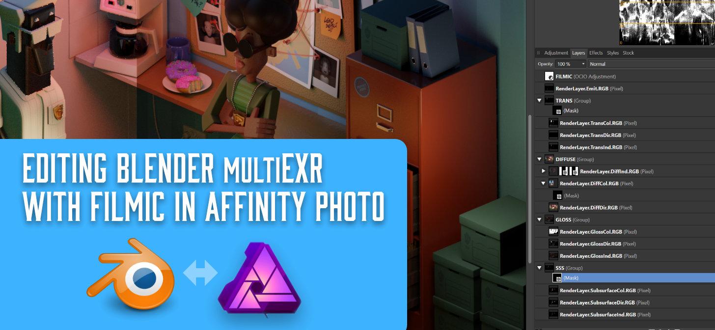 Editing Blender's MultiEXR files with Filmic - BlenderNation