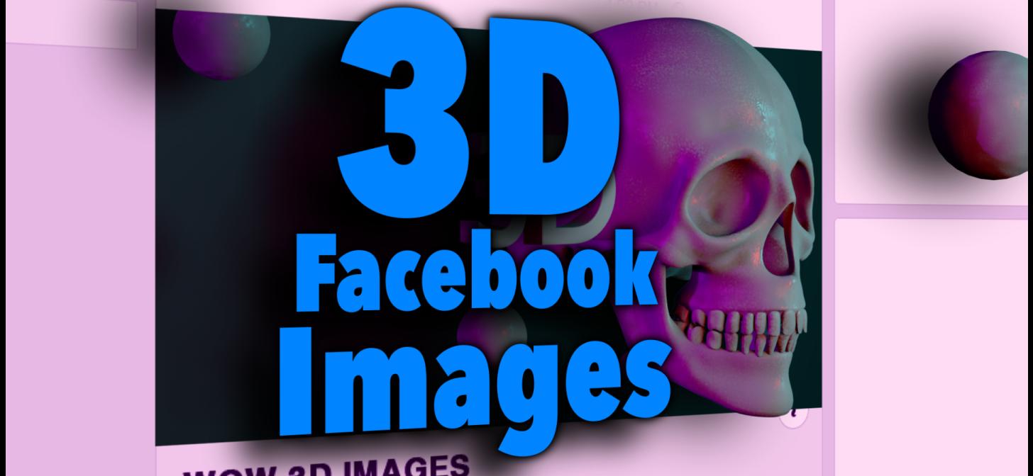 How to Make Facebook 3D images Using Blender 3D BlenderNation