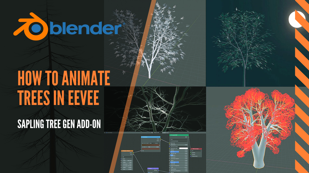 Easy animated trees in Blender 2 8 EEVEE, how to use Sapling Tree