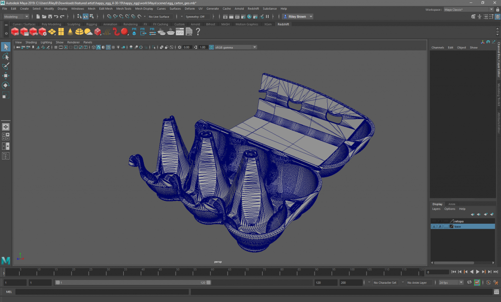symmetrical retopology