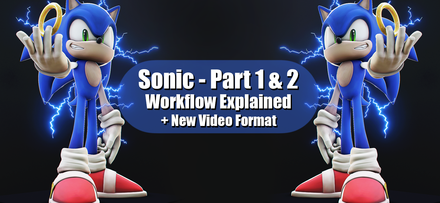 Sonic The Hedgehog Part 2 Creating The Electricity And Texturing In Blender Eevee Blendernation