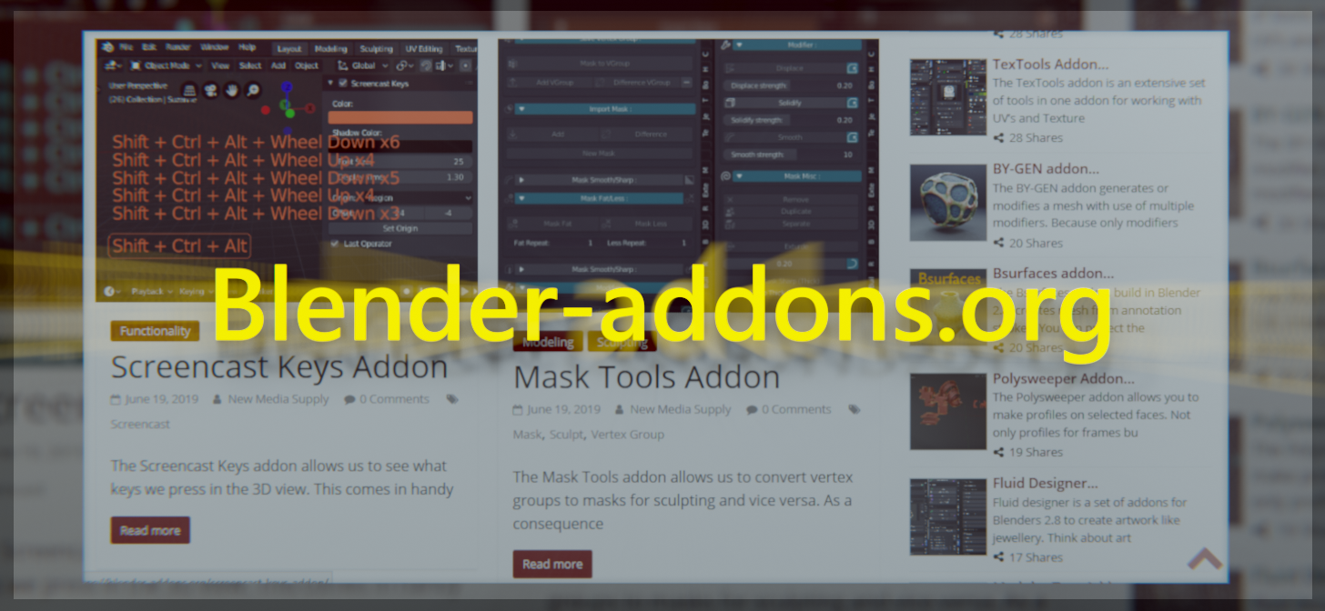 Find Blender 2 8 Add-ons on Blender-Addons org - BlenderNation