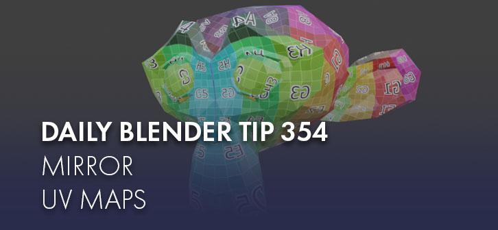 Daily Blender Tip 354: Mirror UV maps