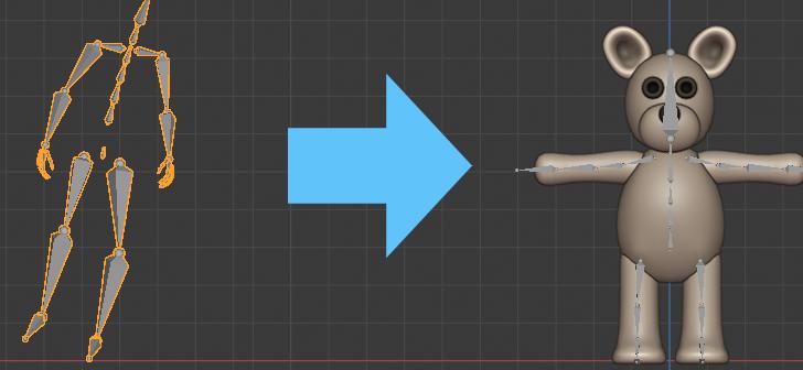 Blender 2.80 animation retargeting