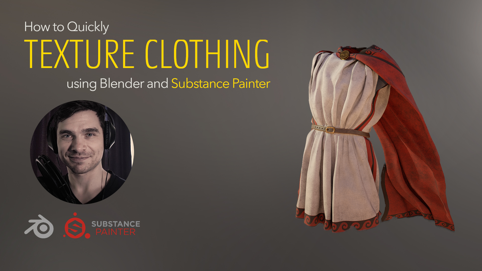 How to Quickly Texture Clothing using Blender and Substance Painter