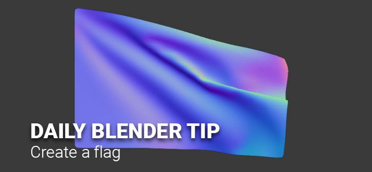 Daily Blender Tip - Make a Flag - BlenderNation