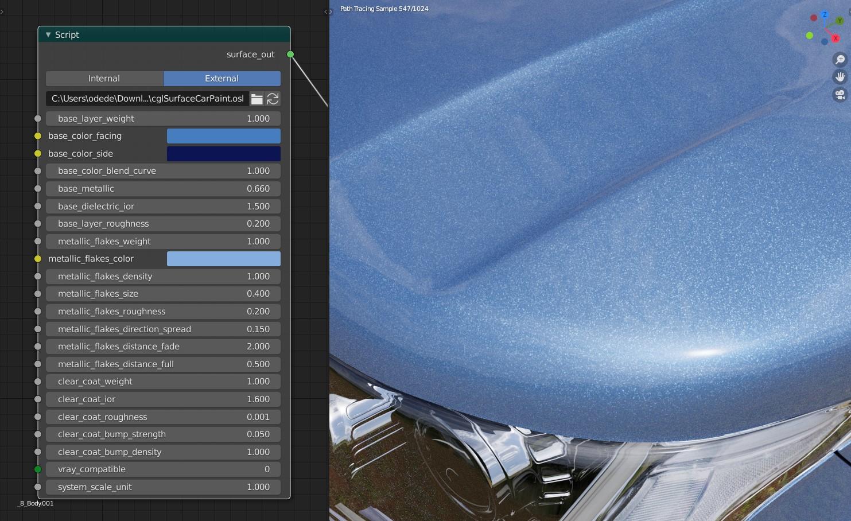 Advanced Car Paint Osl Shader Free Download Blendernation