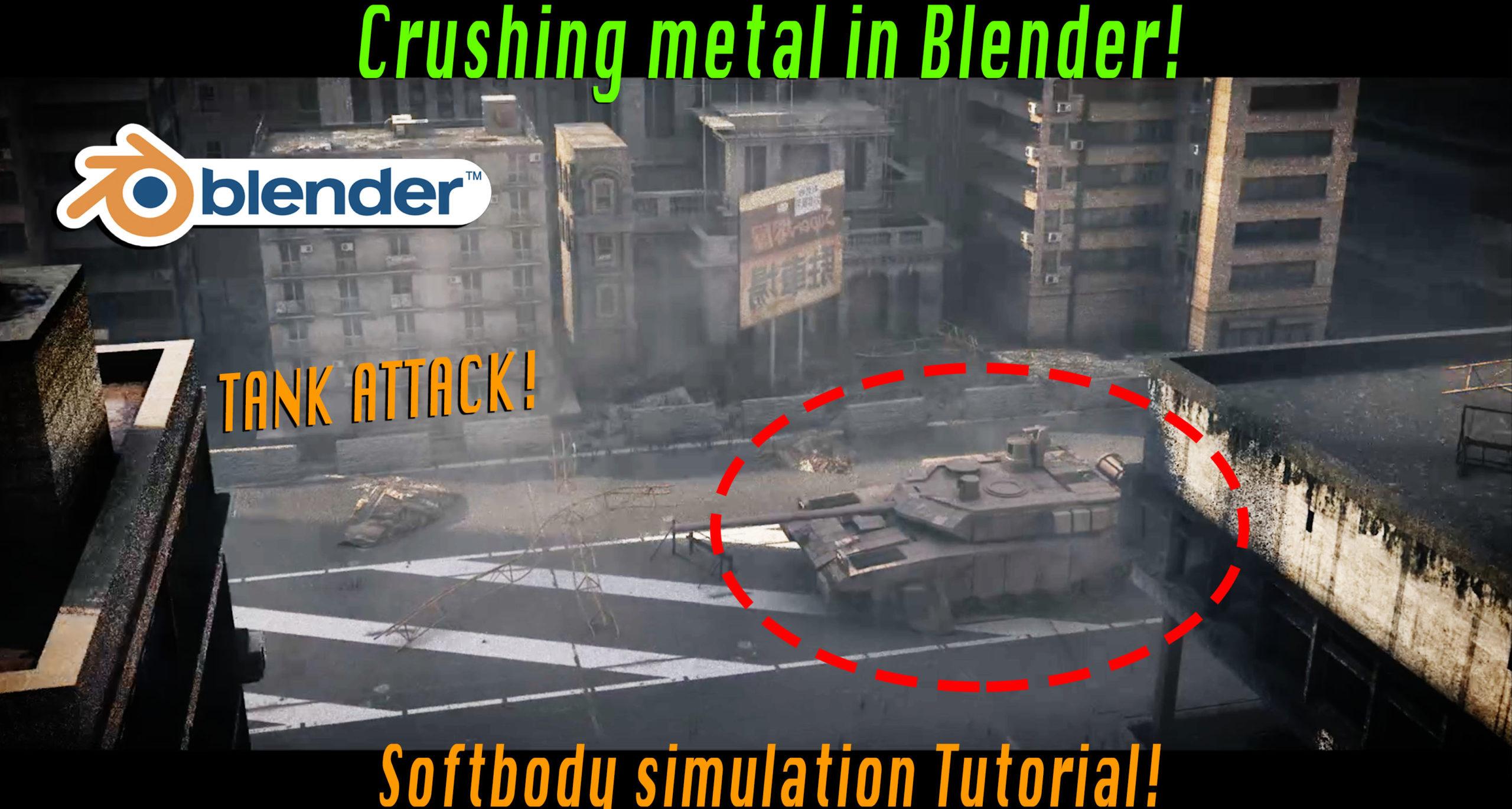 Crush metal in Blender 3d: Blender destruction tutorial! [$] - BlenderNation