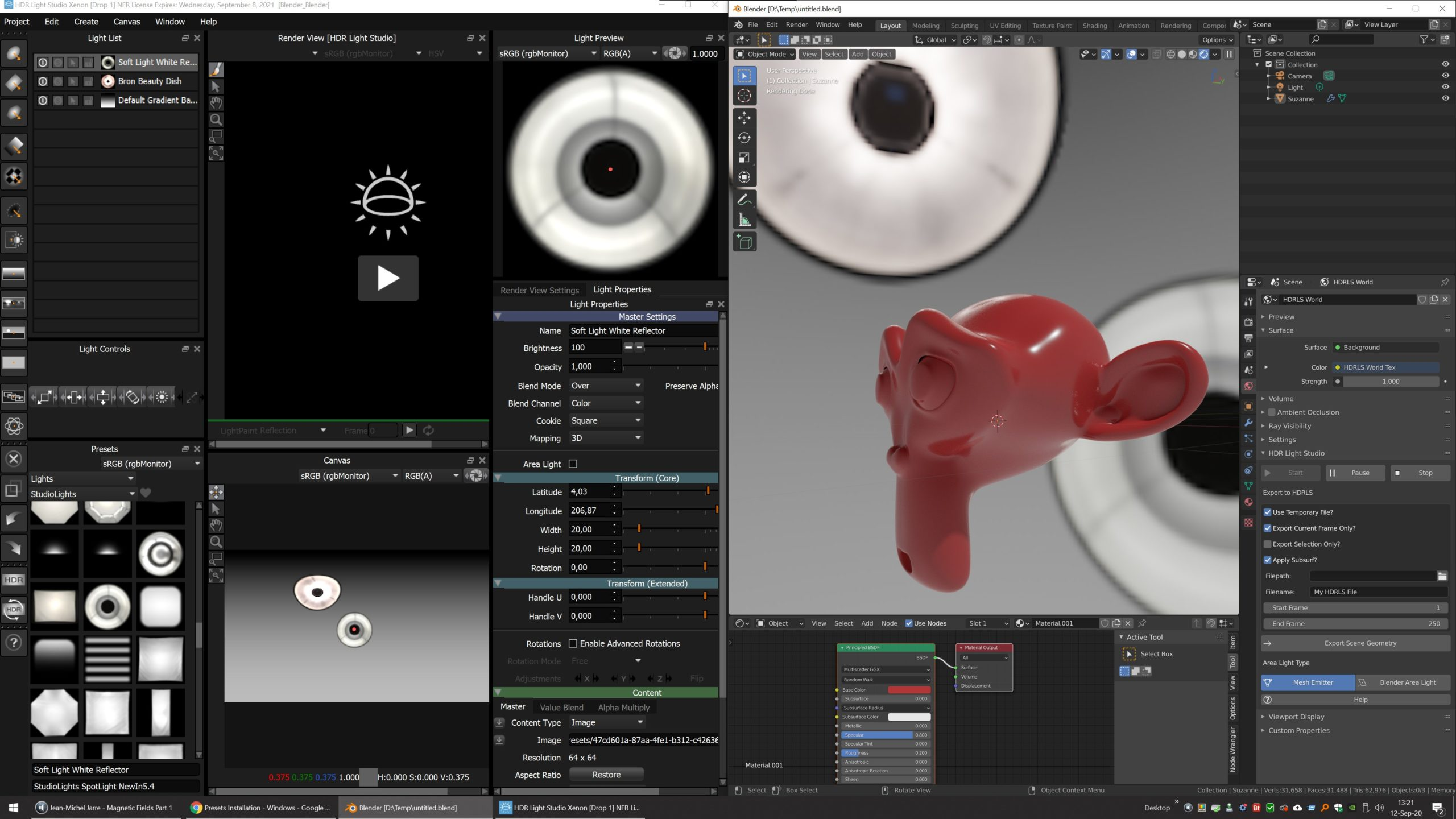 HDR Light Studio seamlessly connects to your Blender scene